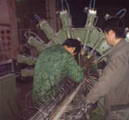 Stent cage machine